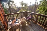 Evergreen Lodge Cabin Deck - Kim Carroll Photography