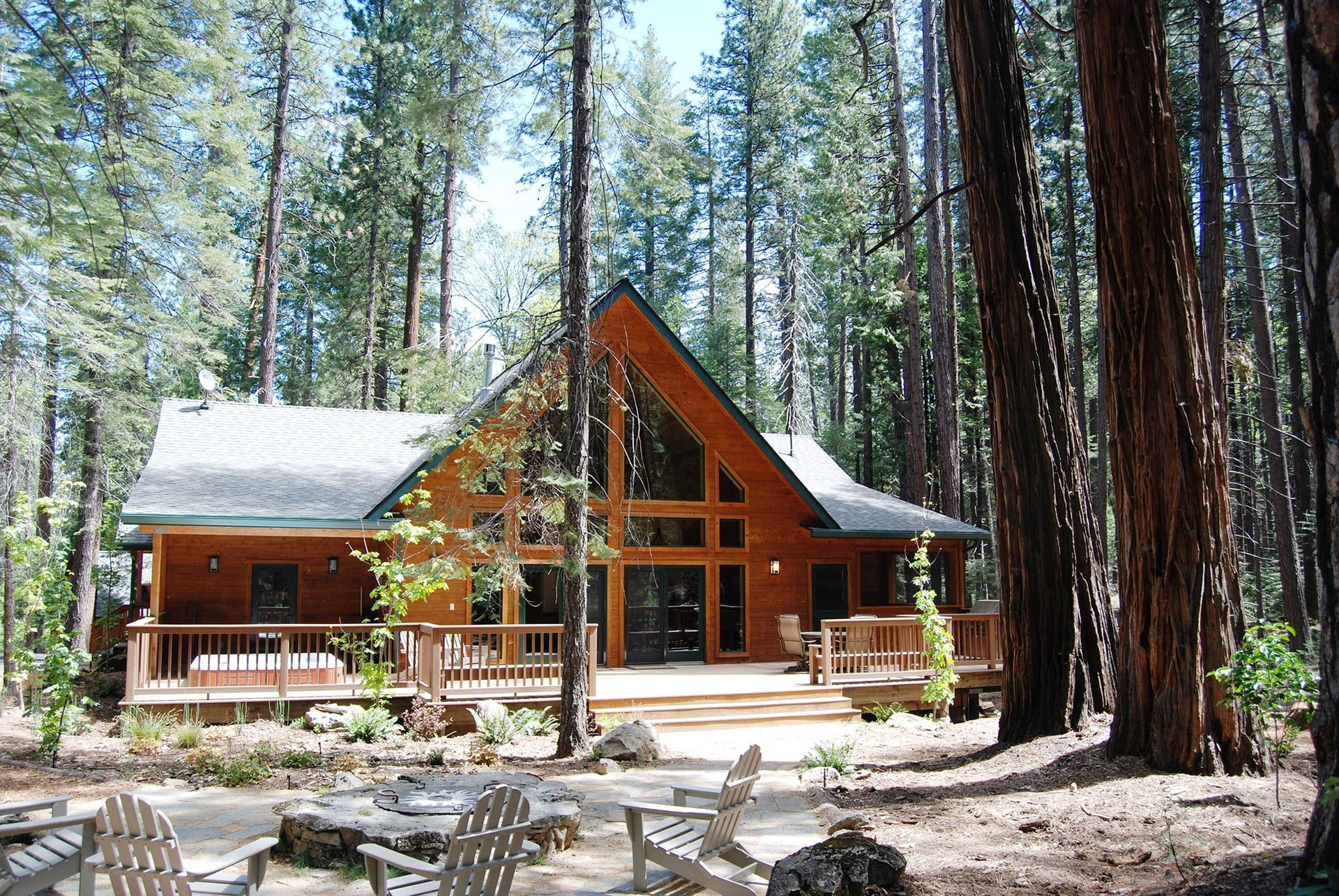 lodge rent camping in custom muir back house john deck cabins for evergreen yosemite