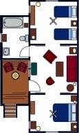 Two-Bedroom Family Cabins Floor Plan