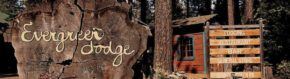 Evergreen Lodge Welcome Sign