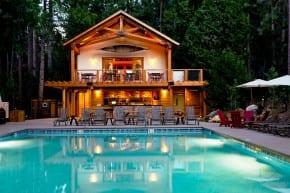 Pool House and Cedar Terrace