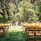 Ceremony Set-Up at Wapama Grove (Kim Carroll)