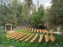 Evergreen Lodge Wapama Grove Wedding Set-Up (Bergreen Photography)