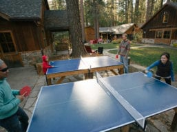 Evergreen Lodge Ping Pong in the Plaza (Kim Carroll)