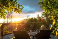 Evergreen Lodge Sunset Deck (Kim Carroll)