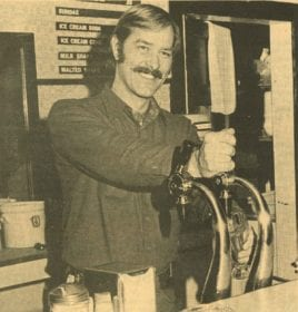 Evergreen Owner John Bargmann at Soda Fountain